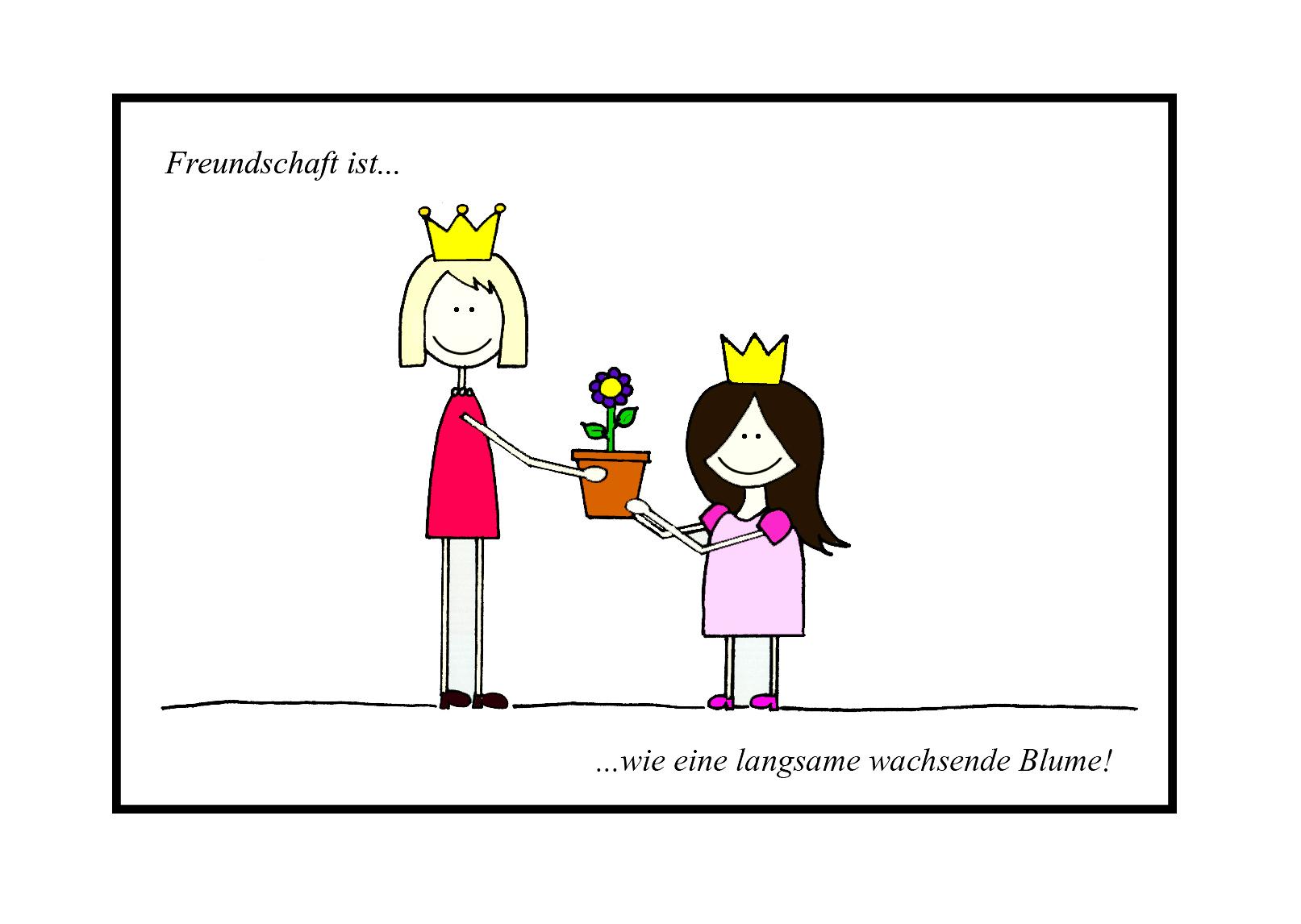 blumen als geschenk, freundscahft, mädchen, prinzessinnen, idee, freunschaft ist wie eine langsam wachsende blume, pink, krone
