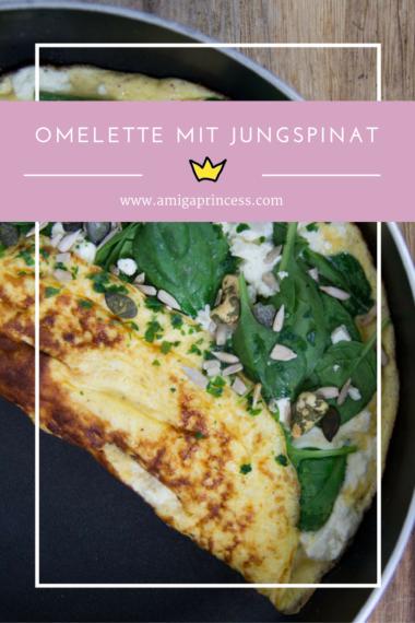 Omelette mit Jungspinat - gesund in den Tag starten #recipe #breakfast #frühstück #inspo #healthy #easy #quick #amigaprincess #rezept
