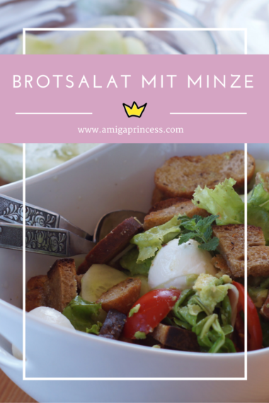 brotsalat mit minze, www.amigaprincess.com