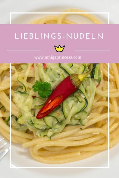 lieblingsnudeln, zucchini, www.amigaprincess.com