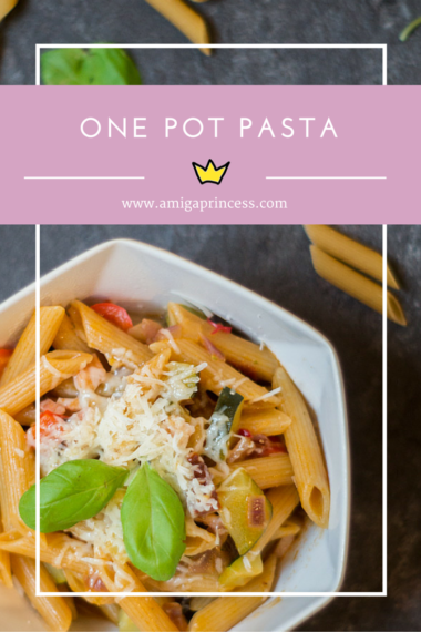 one pot pasta, www.amigaprincess.com