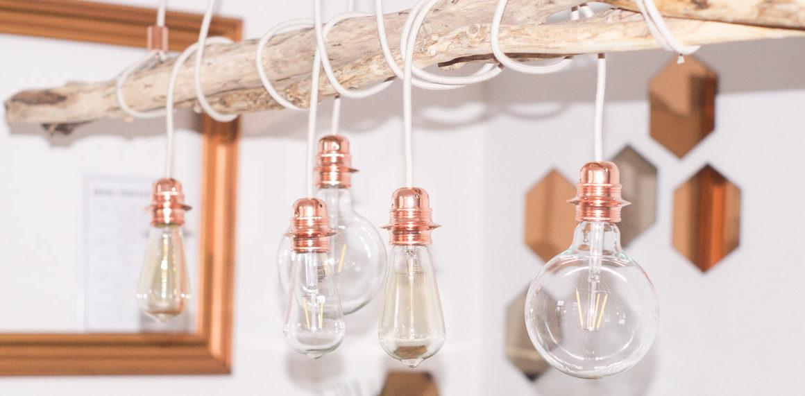 DIY Lampe aus Treibholz und Kupfer, chopper, diy, tipp, driftwood, lamp