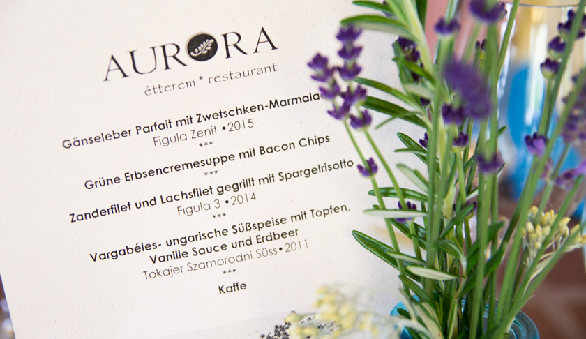 Ein Wochenende in Bük - Wellness, Kulinarik und Sport, Restaurant Pizzeria Aurora, Menü, Bük