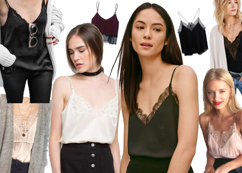 lingerie tops, amiga loves... #lingerie #camisole #lacetop #spitze #lace #daywear #trend