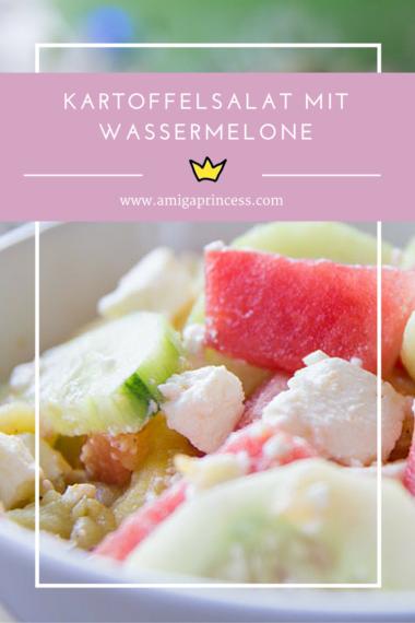 kartoffelsalat mit wassermelone und feta #summer #bbq #grillen #beilage #rezept #recipe #delicious #lecker #easy #einfach #amigaprincess #erfrischend #gurke