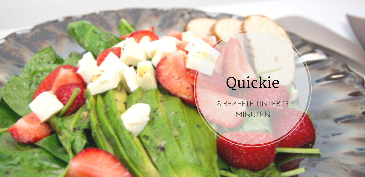 Quickie - 8 Rezepte unter 15 Minuten #recipe #quick #lunch #dinner #healthy #schnelleküche #gesund # rezept #salad #quinoa #pasta #couscous #amigaprincess