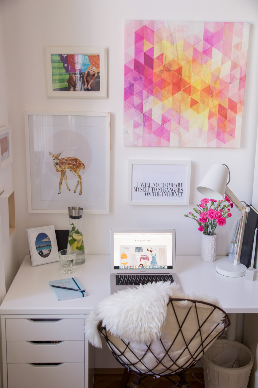 amiga hq: homeoffice, workspace, schreibtisch, blogger at work, inspo