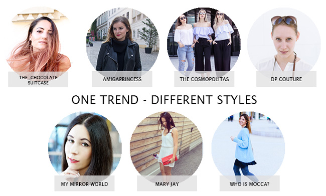 One Trend - different Styles: Blockabsatz 1