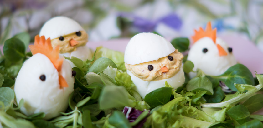 Essbare Osterdeko: gefüllte Eier 6