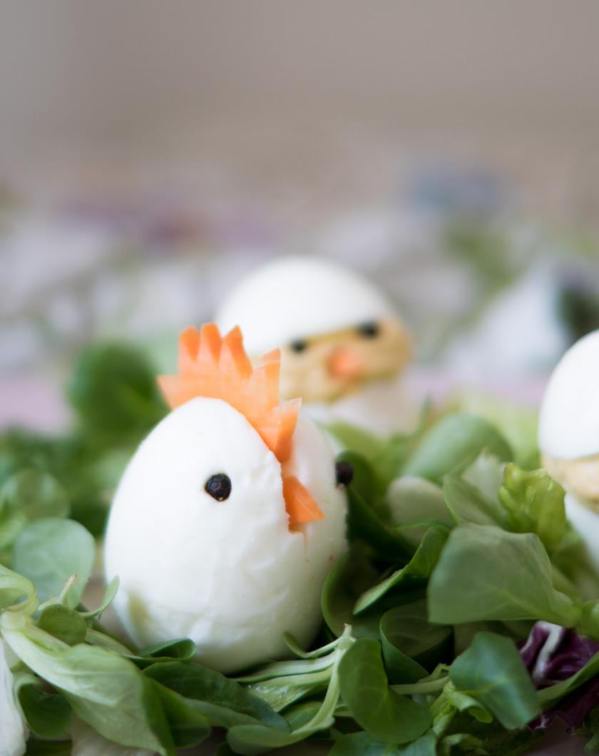 Essbare Osterdeko: gefüllte Eier 4