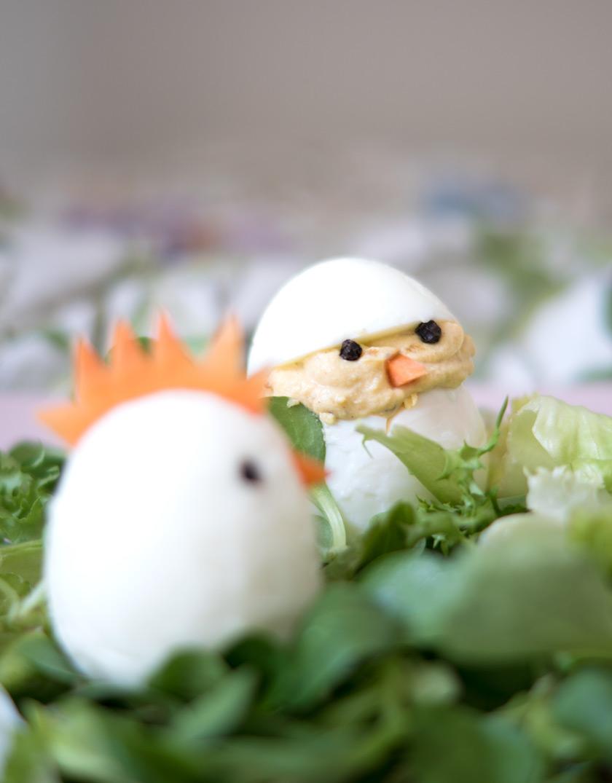 Essbare Osterdeko: gefüllte Eier 5