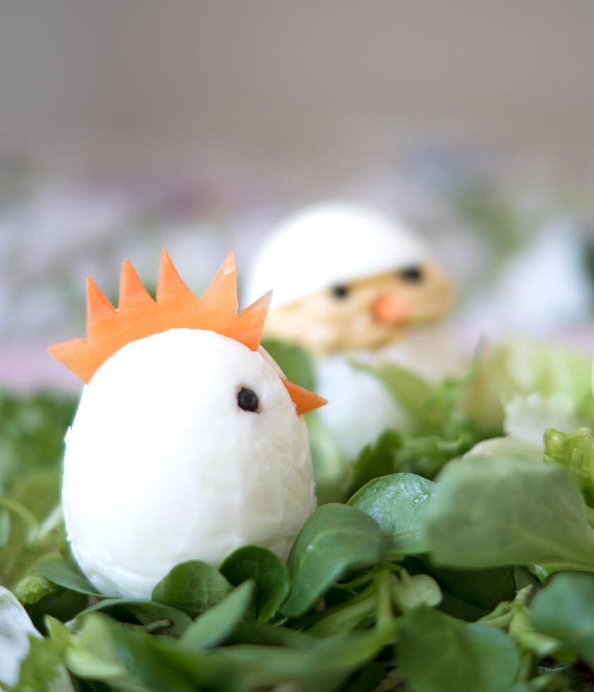 Essbare Osterdeko: gefüllte Eier 2