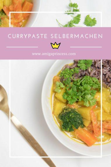 Gelbes Curry mit selbstgemachter Currypaste, Currypaste selbermachen, diy, hausgemacht, gelbes curry, rezept, recipe, amigaprincess