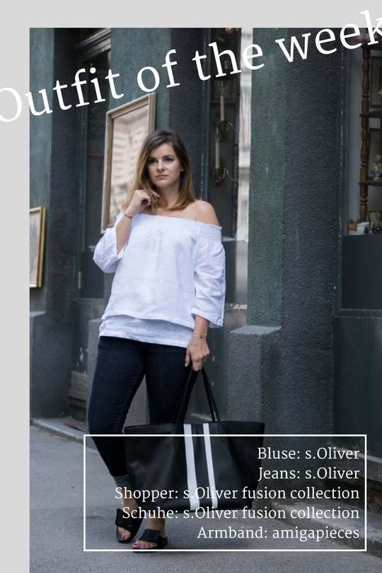#ootw: Off-Shoulder Leinenbluse b/w* 1