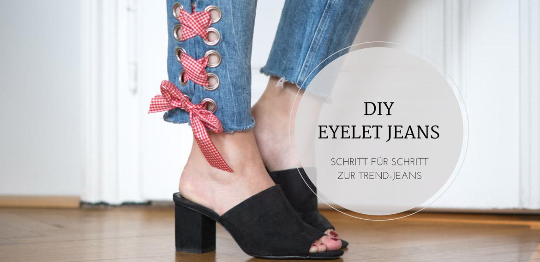 DIY: Jeans mit Metallösen und Schleife, Schritt für Schritt, step by step, eylets, denim, trend jeans, vichykaro, selbermachen, metallösen, ösen, fashion, style, blogger, amigaprincess, fashion, eyelet jeans, jeans mit nieten