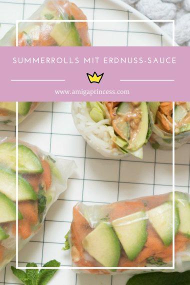 Homemade Summerolls mit Erdnuss-Sauce 11