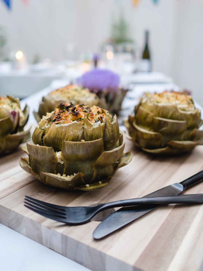 Tipiak Kochabend* - gefüllte Artischocken mit Bulgur 14