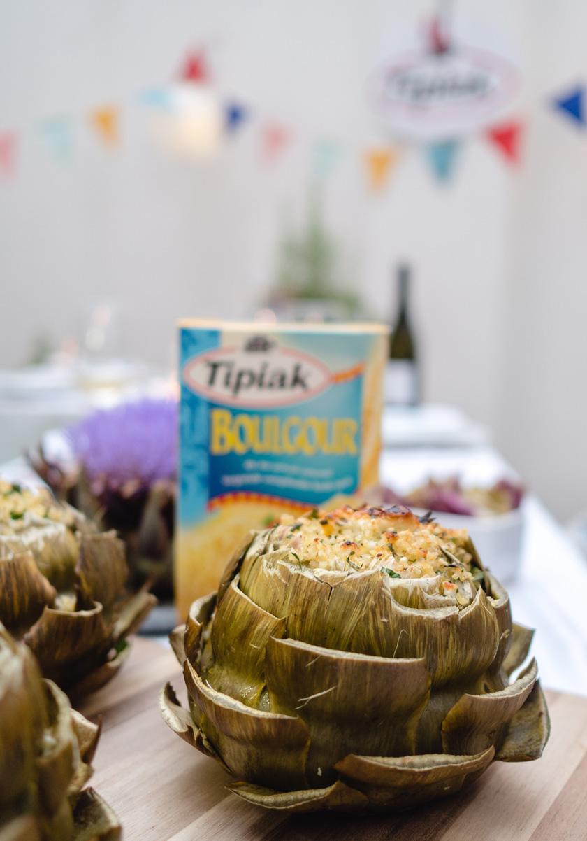 Tipiak Kochabend* - gefüllte Artischocken mit Bulgur 16