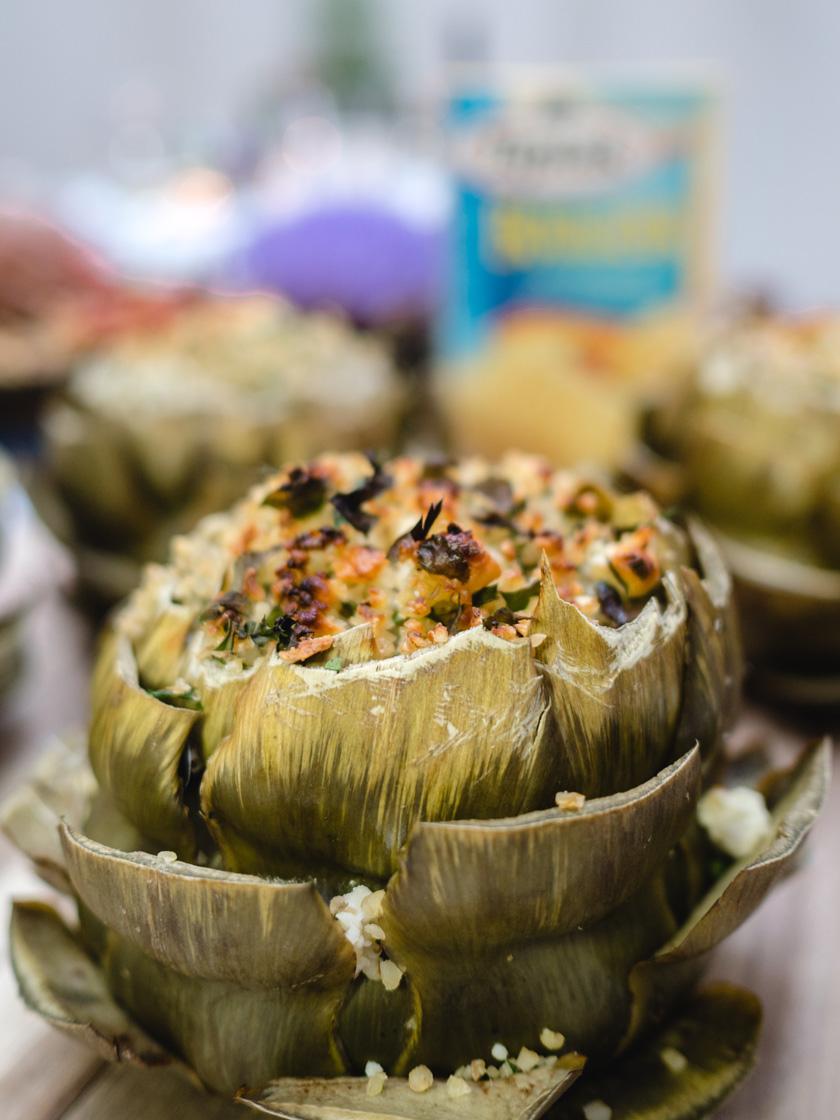 Tipiak Kochabend* - gefüllte Artischocken mit Bulgur 10
