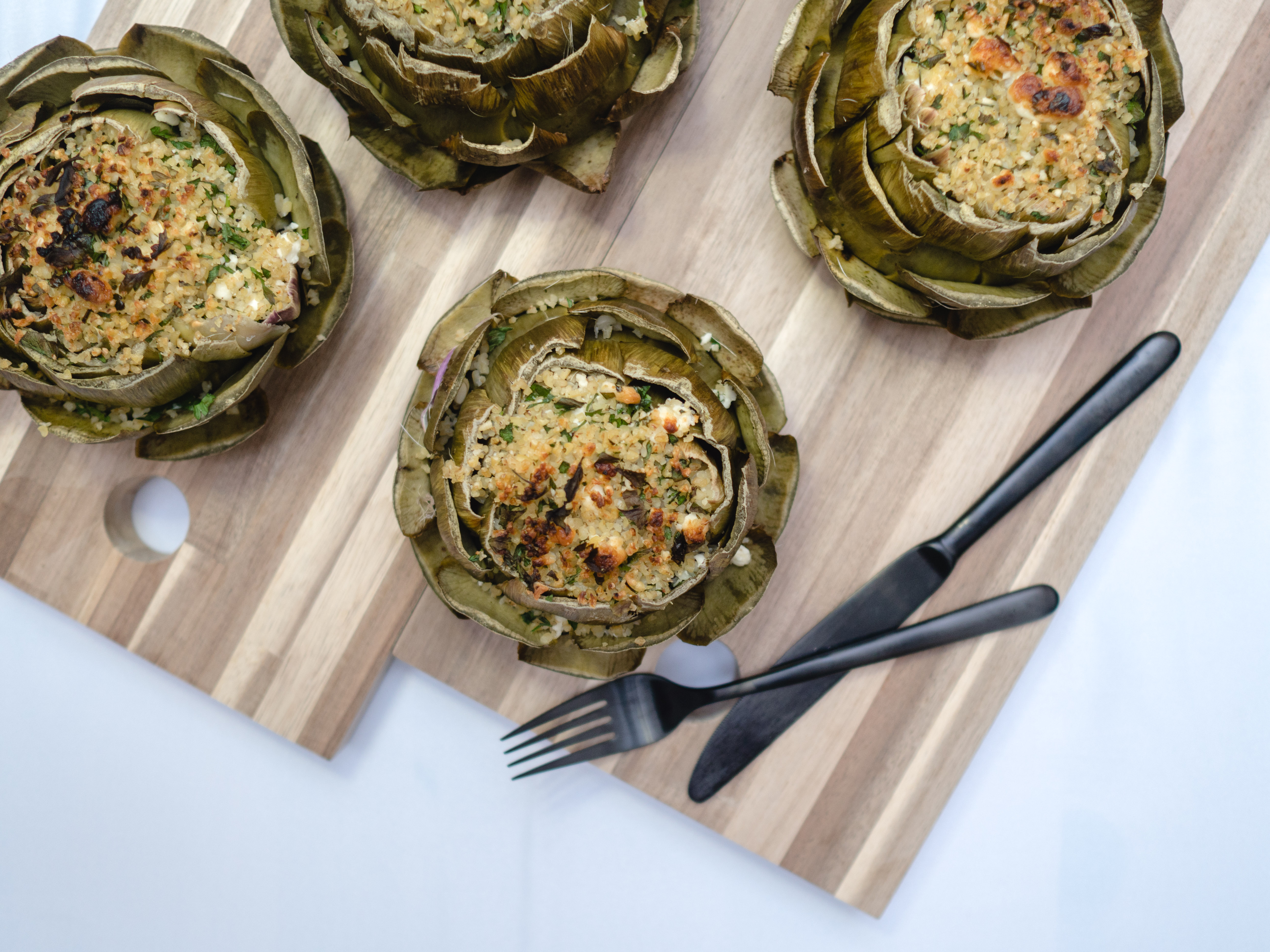 Tipiak Kochabend* - gefüllte Artischocken mit Bulgur 15