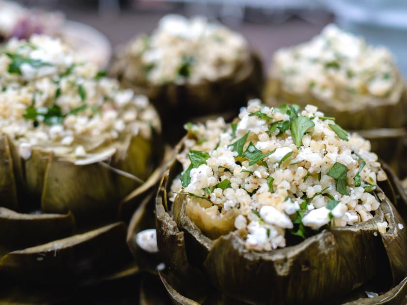 Tipiak Kochabend* - gefüllte Artischocken mit Bulgur 12