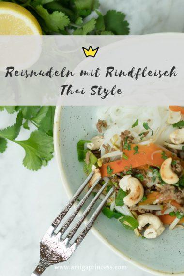 Reisnudeln mit Rindfleisch - Thai Style 5