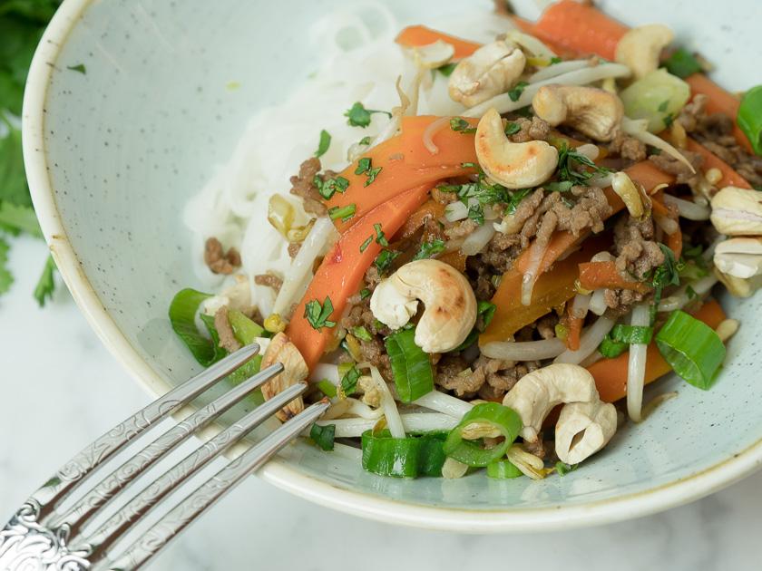 Reisnudeln mit Rindfleisch - Thai Style 6