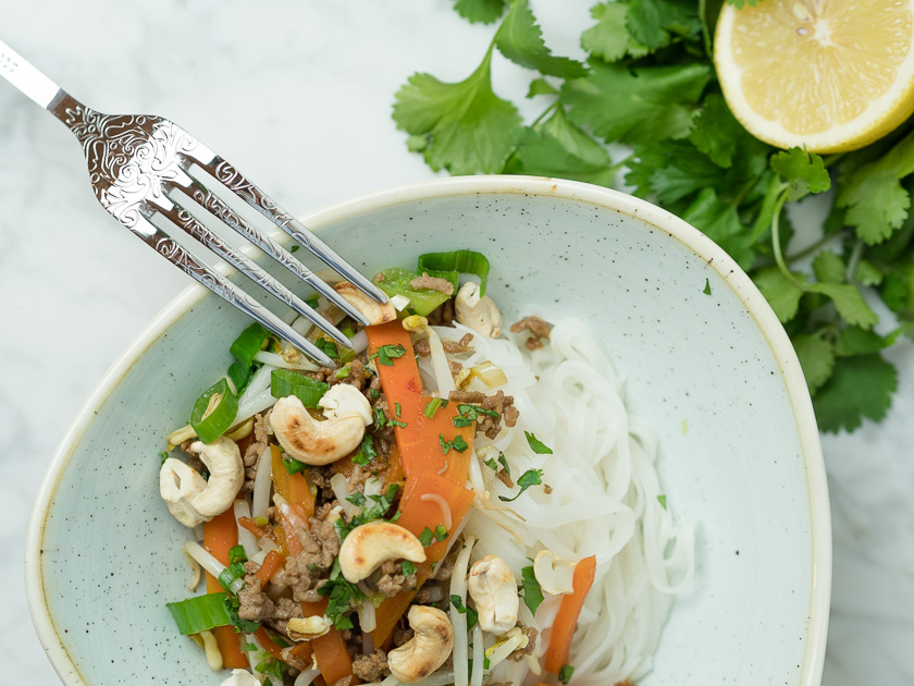 Reisnudeln mit Rindfleisch - Thai Style 2