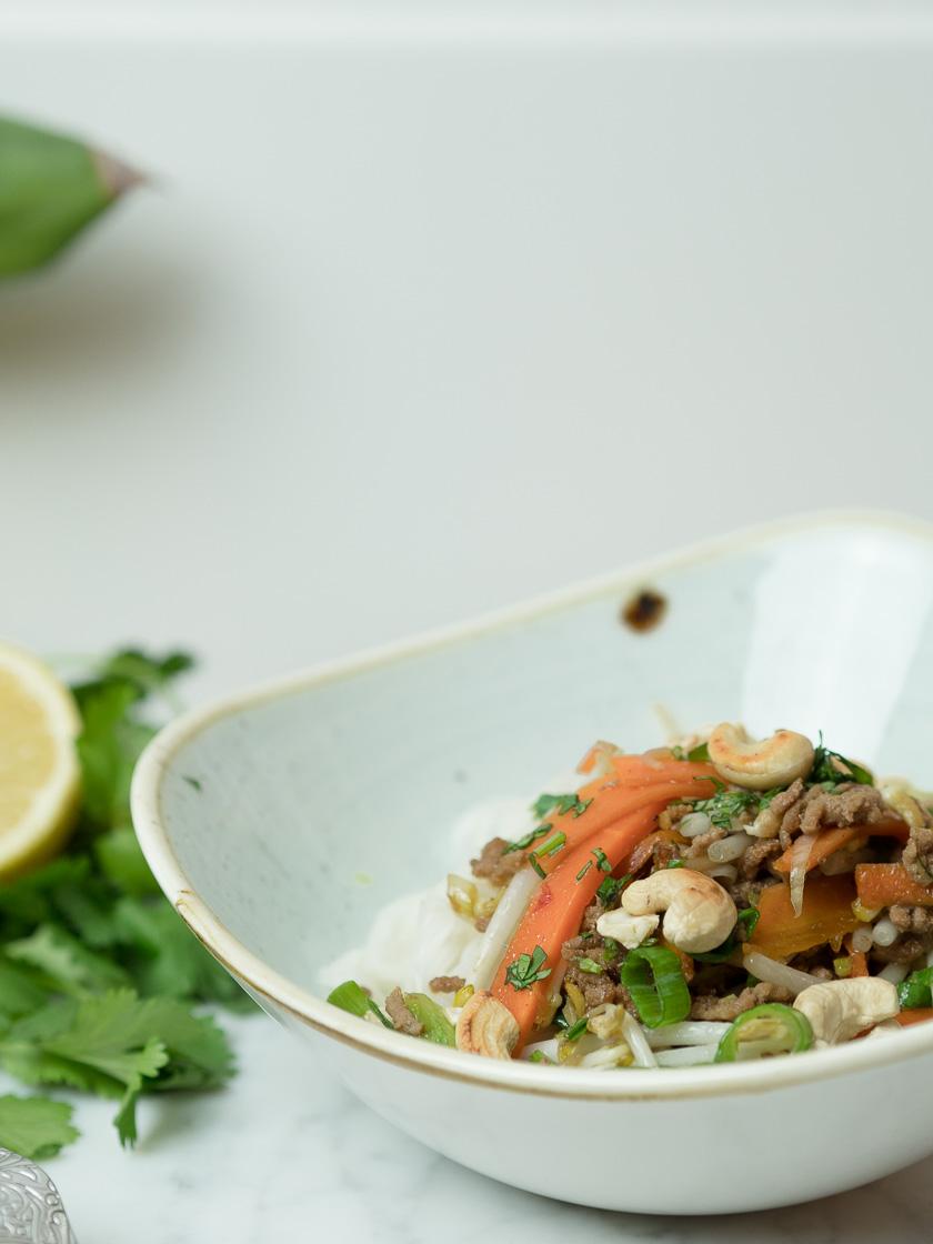 Reisnudeln mit Rindfleisch - Thai Style 3
