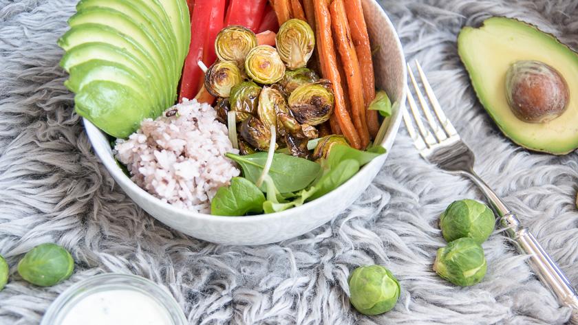 Foodbowl mit Wasabi Dip 1