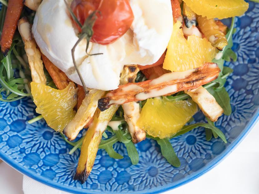 Wurzelgemüse mit Burrata und Orangen-Dressing 8