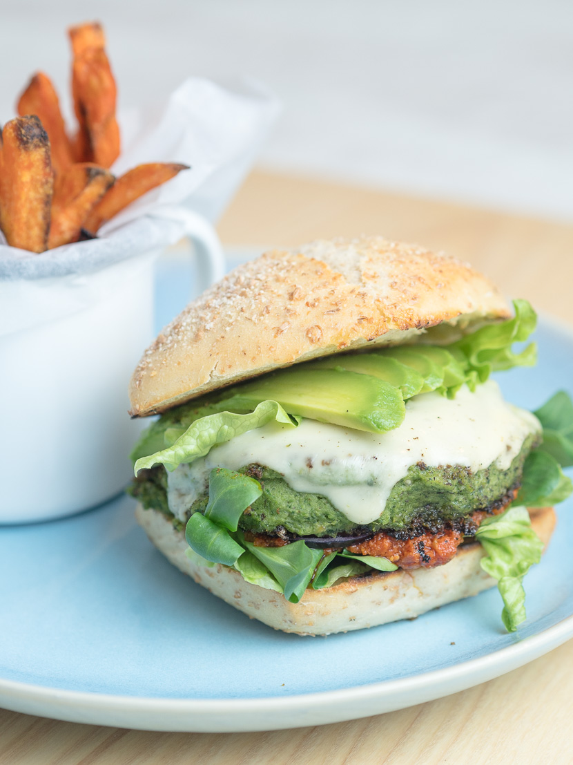 Green Veggie Burger 3