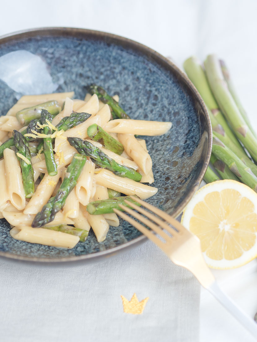 Cremige One Pot Spargel Pasta mit Zitrone 2