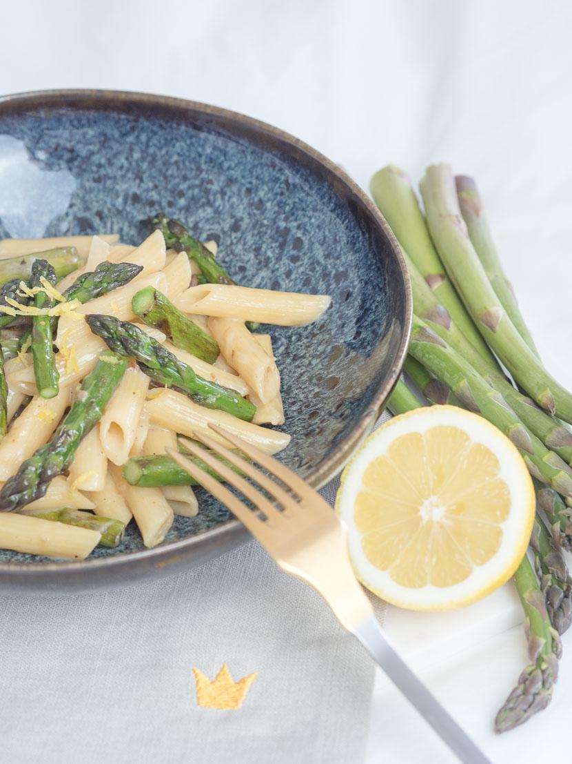 Cremige One Pot Spargel Pasta mit Zitrone 10