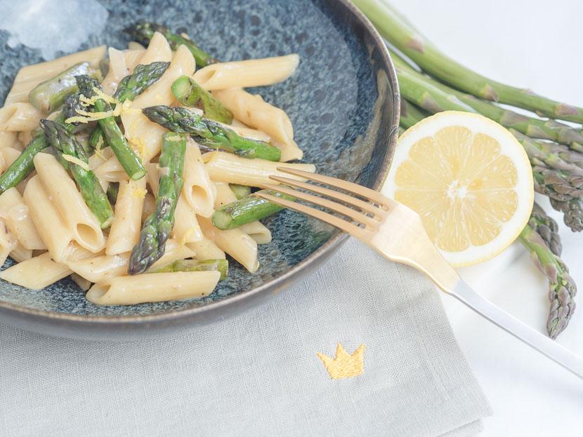 Cremige One Pot Spargel Pasta mit Zitrone 4