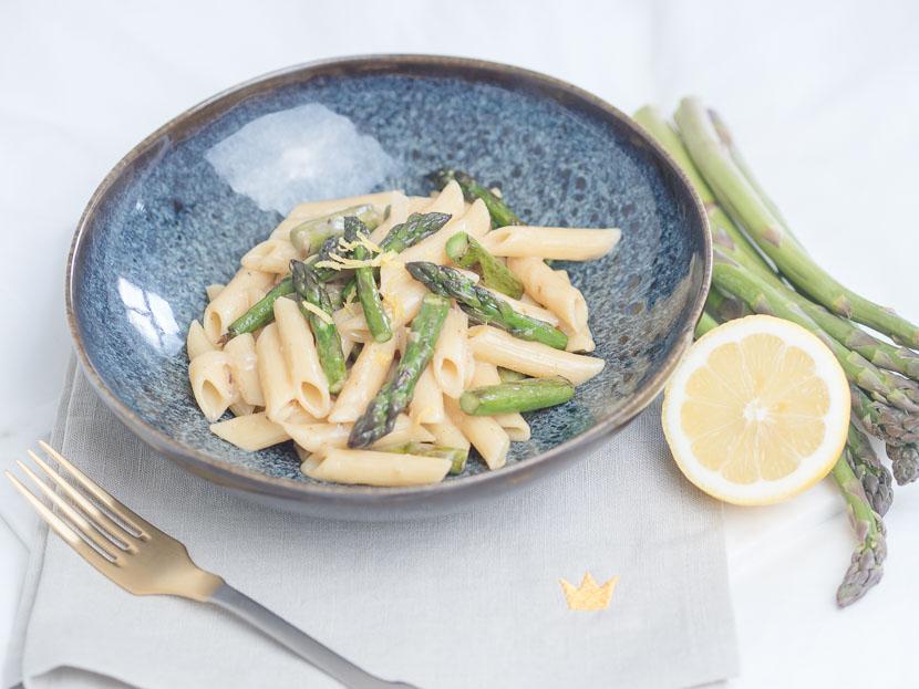 Cremige One Pot Spargel Pasta mit Zitrone 3