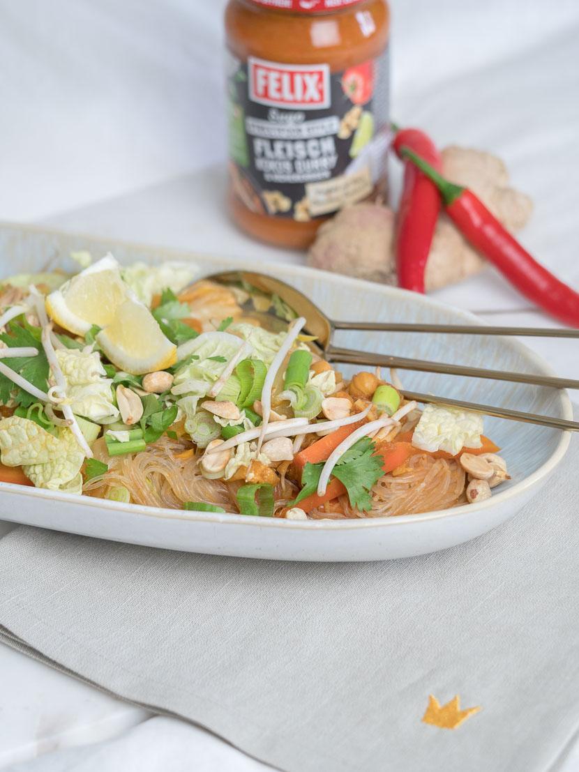 One Pot Glasnudel Sugo Curry mit FELIX Sugo Streetfood Style* 11
