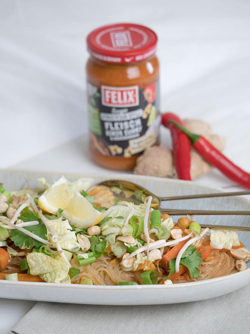 One Pot Glasnudel Sugo Curry mit FELIX Sugo Streetfood Style* 7