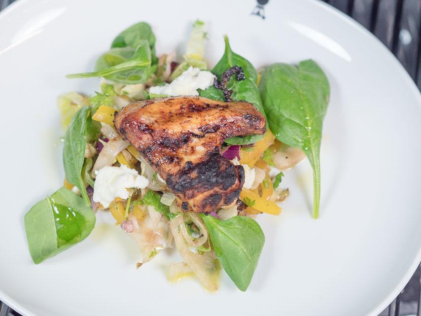 Chickenwing Salat Weber Streetfood Grillkurs