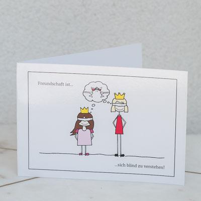 Freundschaft ist... Grußkarte min Umschlag 4