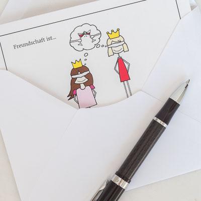 Freundschaft ist... Grußkarte min Umschlag 1