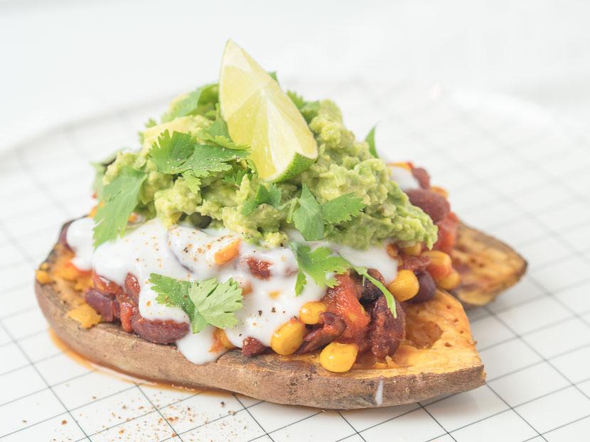 Gefüllte Süßkartoffel - Mexican Style | vegan 1