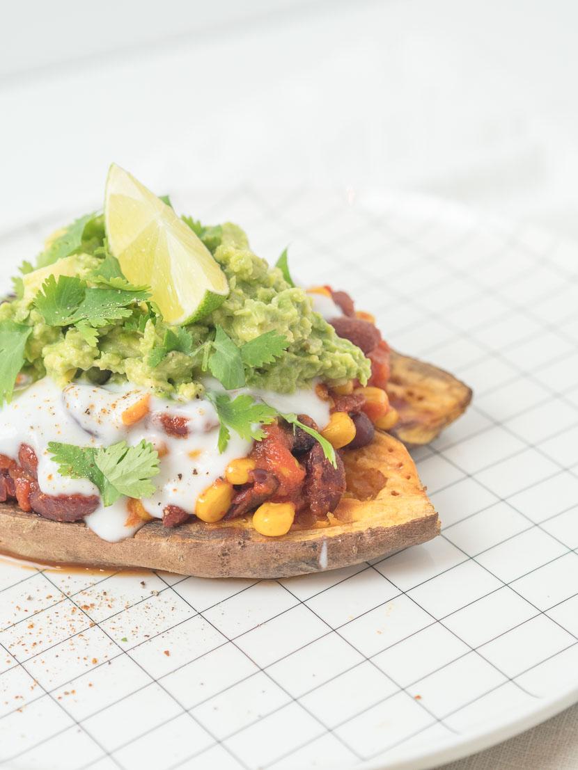 Gefüllte Süßkartoffel - Mexican Style | vegan 6
