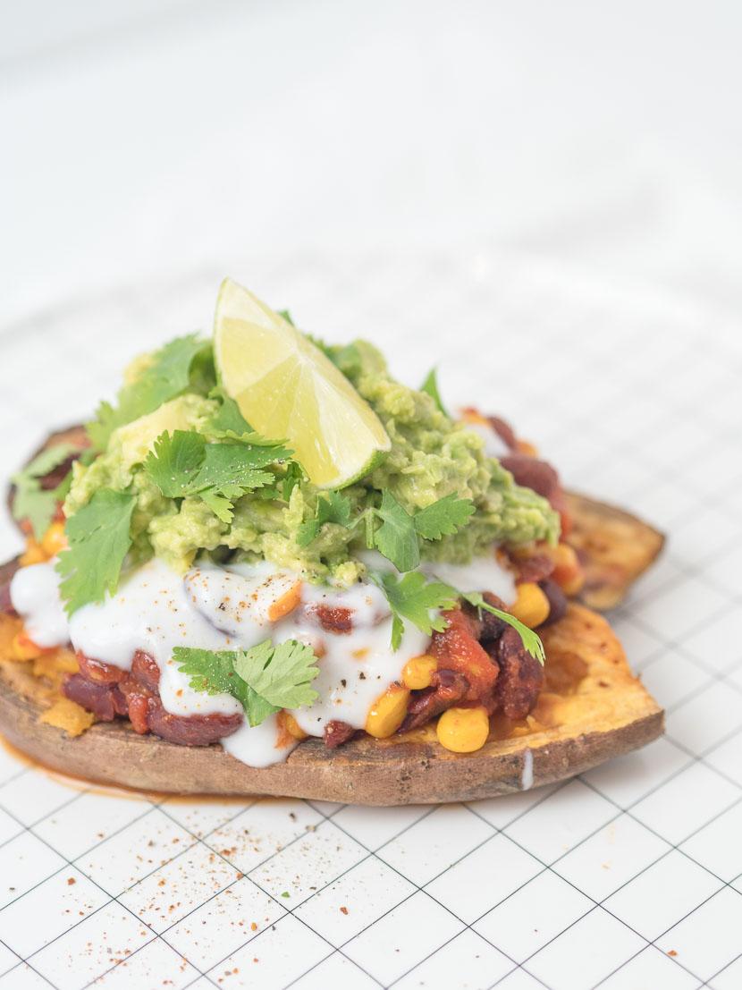 Gefüllte Süßkartoffel - Mexican Style | vegan 9