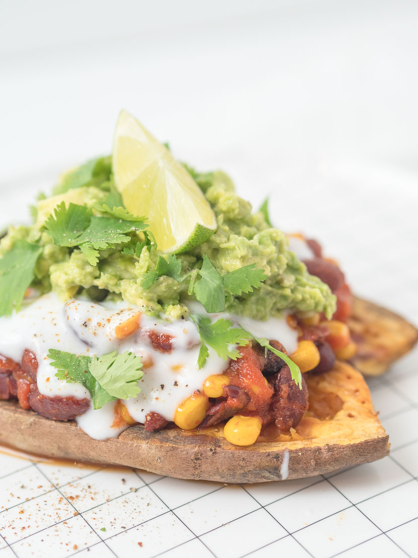 Gefüllte Süßkartoffel - Mexican Style | vegan 4