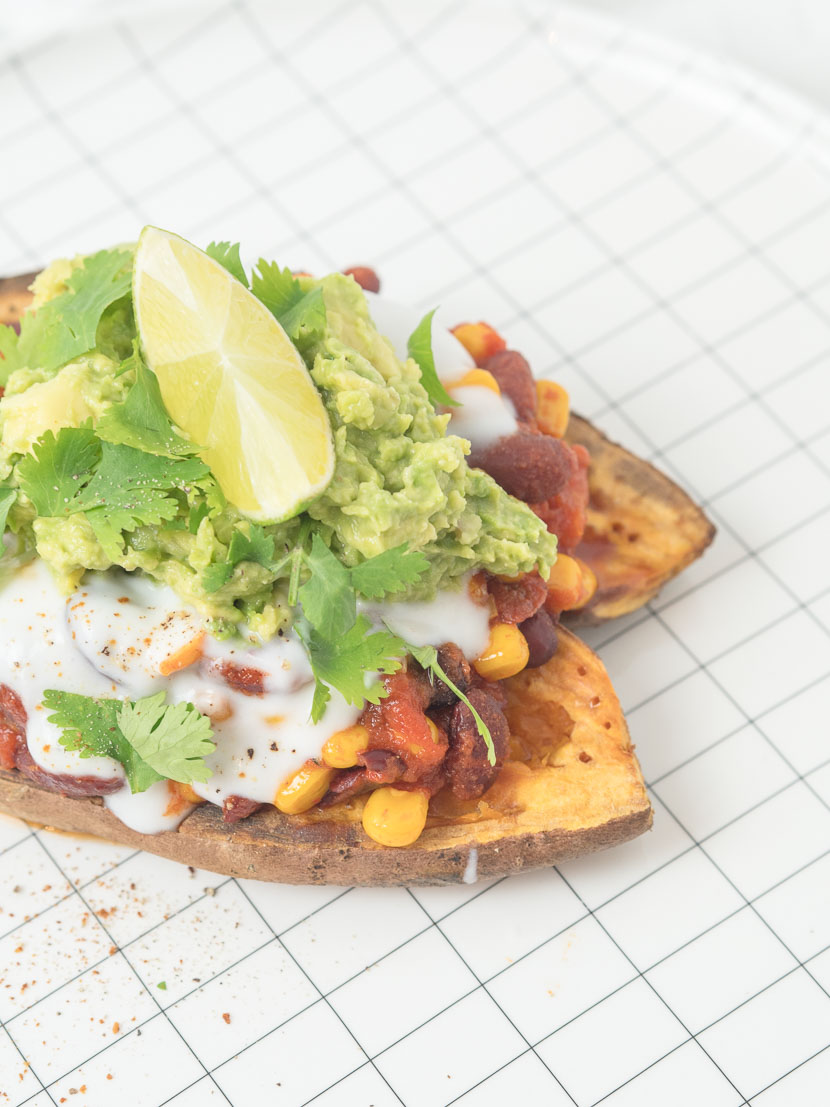 Gefüllte Süßkartoffel - Mexican Style | vegan 2