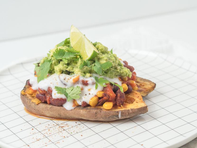 Gefüllte Süßkartoffel - Mexican Style | vegan 7