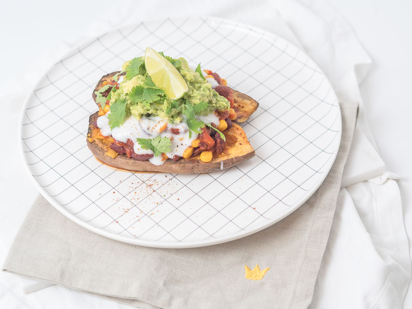 Gefüllte Süßkartoffel - Mexican Style | vegan 5