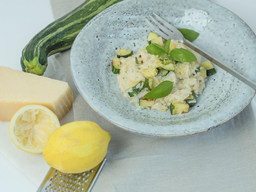 Gin-Zitronen-Risotto mit Zucchini 1
