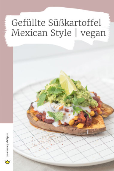 Gefüllte Süßkartoffel - Mexican Style | vegan 11